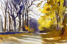 watercolor landscape paintings - Buscar con Google