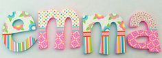 Find a Name for your Baby! - Layla Baby Name - Ideas of Layla Baby Name - Custom Painted Decorative Wall Letters Featuring por PoshDots Layla Baby Name Ideas of Layla Baby Name Custom Painted Decorative Wall Letters Featuring por PoshDots Letter Wall Decor, Nursery Letters, Diy Letters, Letter A Crafts, Wooden Letters, Painted Initials, Painted Letters, Hand Painted, Unusual Baby Names