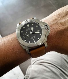 Pam 305 #PANERAI #pam305 #pamvintage #pre-A #Pam #prevendome #paneraivintage #submersible #vintagepanerai #vintagewatch #watchvintage #watchanish #watchmania #watchdaily #dailywatch #watches #watchs #ptk_phlpp #paneristi #thairisti #siamnaliga #sbn #siambrandname #timezone #paneraicentral #patekcollector Panerai Submersible, Scuba Watch, Panerai Straps, Panerai Watches, Vintage Watches, Deep Blue, Mens Fashion, My Style, Accessories