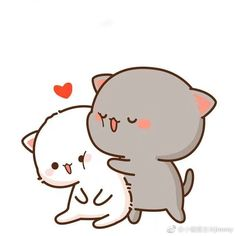 微博 Cute Bear Drawings, Cute Cartoon Drawings, Kawaii Drawings, Cute Cartoon Images, Cute Love Cartoons, Cute Cartoon Wallpapers, Cute Love Memes, Cute Love Pictures, Chibi Cat