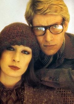 Angelica Huston and Yves Saint Laurent by David Bailey