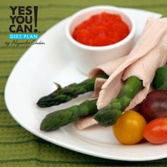 Turkey Asparagus Rollups - A healthy option for your Yes You Can! Diet Plan Snack