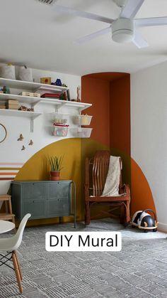 New Living Room, New Room, Diy Wall Art, Diy Wall Decor, Best Wall Colors, Interior Design Guide, Tiny House Storage, 70s Home Decor, Cute Room Decor