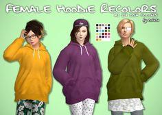 Female Hoodie Recolors at Tukete • Sims 4 Updates