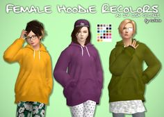 Female Hoodie Recolors at Tukete • Sims 4 Updates