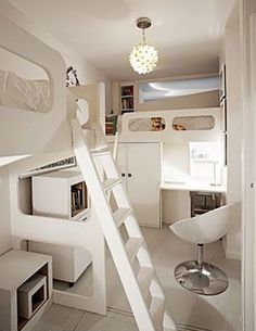 Inside a micro off the grid creative house. Living small is all about creative space saving. Small Space Living, Tiny Living, Living Spaces, Mini Loft, Paris Apartments, Small Apartments, Apartment Living, Apartment Therapy, Compact Living