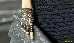 Стильные перчатки без пальцев своими руками - ажурные