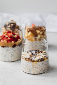 This Easy Overnight Oats Recipe Is A Healthy Simple Breakfast That You Can Make Ahead For Busy Mornings And Customize With Many Add-Ins And Toppings Overnight Oats Oatmeal Breakfast Ideas Healthy Breakfast On-The-Go Via Healthy Breakfast Recipes, Healthy Recipes, Healthy Snacks, Nutritious Breakfast, Breakfast Smoothies, Healthy Breakfasts, Good Breakfast Ideas, Healthy Breakfast On The Go, Breakfast Toast