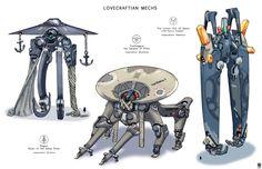 ArtStation - Lovecraftian Mechs, Sheng Lam