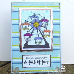 Beccy's Place - Ferris Wheel Fabric Crafts, Paper Crafts, Digital Image, Cardmaking, Sewing, Colouring, Ferris Wheel, Day, Frame