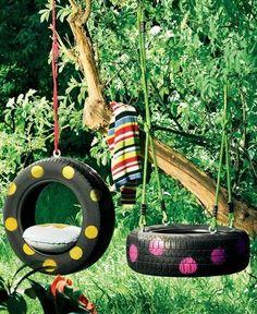 DIY Gartenschaukel für den Kinderspielplatz