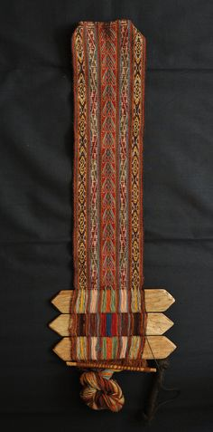 Belt Loom Peru / This little loom with a partially completed belt was made in Chinchero, Peru.