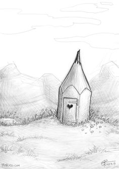"""Scheisshaus"" (digital drawing, 2017)"