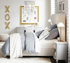 love the gold accents, great teen room