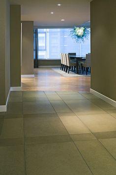 Portobello Concrete Floor Tile, Photo by Raef Grohne by Solus Decor, via Flickr