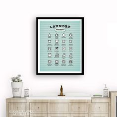 Laundry Room wall Art, Mother's day gift, Mother's day present, kitchen print, kitchen wall art Kitchen Prints, Kitchen Wall Art, Mothers Day Presents, Mother Day Gifts, Blue Laundry Rooms, Laundry Symbols, Coffee Poster, Fine Art Prints, Light Blue