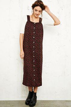 Pins & Needles Ditsy Midi Pinafore Dress at Urban Outfitters £58
