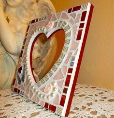 Heart Mosaic, Heart Frame Mosaic, https://www.facebook.com/Heart2HeartMosaics #heartframemosaic