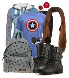 Emma Saltzman Inspired School Outfit by grandmasfood on Polyvore featuring polyvore fashion style NLY Trend Frame G by Guess Eastpak Korres C. Wonder clothing