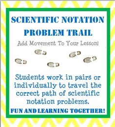 Scientific Notation activity