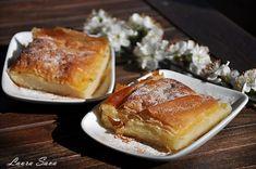 Bougatsa, placinta cu gris de post | Retete culinare cu Laura Sava - Cele mai bune retete pentru intreaga familie French Toast, Deserts, Food And Drink, Breakfast, Morning Coffee, Postres, Dessert, Plated Desserts, Desserts