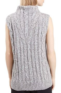 Topshop Cable Knit Tabard Sweater | Nordstrom