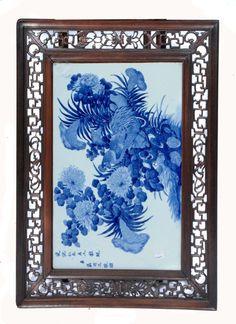 ✿ڿڰۣ(̆̃̃•Aussiegirl A CHINESE BLUE AND WHITE PORCELAIN PANEL