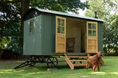Fun outdoor space with an English Shepherd Hut.