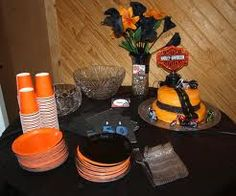 Motorcycle Party Package by Leslie Earnest Studios 50th Birthday Party Decorations, Birthday Party Celebration, 50th Party, Birthday Bash, Surprise Birthday, 16th Birthday, Birthday Ideas, Wedding Decorations, Biker Wedding Theme