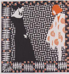 Early spring. Illustration to a poem by Rainer Maria Rilke. - Koloman Moser