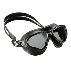 Cressi Cobra Mask UV Protective Silicone Swimming Goggles Black W Tinted Lens *** More info could be found at the image url.Note:It is affiliate link to Amazon.
