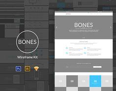 BONES Wireframe Kit http://on.be.net/1KzbZeR #design #webdesign #UI #UX #PSD
