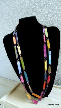 Collar de arcilla polimérica por AnarinaAnar en Etsy