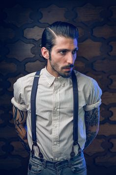 great tats... except... suspenders... in jeans............................