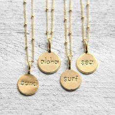 NES024 sea sand surf aloha koshikira kk Kette necklace koshikira Women's Jewelry - http://amzn.to/2j8unq8