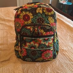 Vera Bradley Back Pack Vera Bradley Back Pack, like new and barely used. It's a great bag with tons of storage. No wear, stains or fading. From a smoke free home. Vera Bradley Bags Backpacks