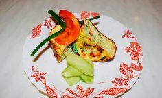 OMLETA CU DOVLECEL SI ARDEI LA CUPTOR - Flaveur Healthy Meals For Kids, Healthy Recipes, Avocado Egg, Eggs, Breakfast, Bebe, Morning Coffee, Healthy Eating Recipes, Egg