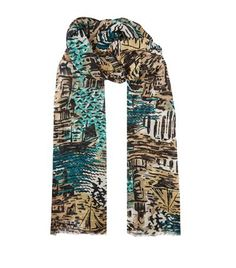 BURBERRY British Seaside Print Scarf. #burberry #