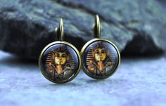 Egypt Pharaon earrings vintage earrings antique by Bernsteinufer