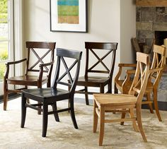 Aaron Wood Seat Chair   Pottery Barn (kitchen table)