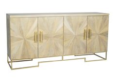 Justinian Starburst Credenza - White Wash | Beds & Storage | Selamat Designs | Interior Design Ideas