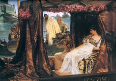 Sir Lawrence Alma-Tadema Antony and Cleopatra painting is shipped worldwide,including stretched canvas and framed art.This Sir Lawrence Alma-Tadema Antony and Cleopatra painting is available at custom size. Lawrence Alma Tadema, Ancient Egypt, Ancient History, Art History, Mark Antony, Queen Cleopatra, Rome Antique, Pre Raphaelite, Western Art