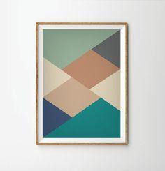 Résumé impression d'affiche, d'impression d'affiche mi-siècle, la copie d'affiche rétro, affiche imprimé géométrique, affiche, affiches