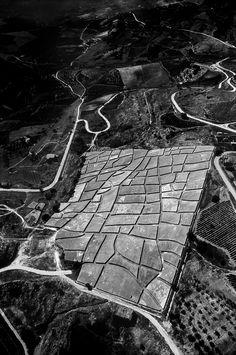 """Alberto Burri ~ """"Grande Cretto"""" (1984-1989) Gibellina.  The piece commemorates the destruction of the Western Sicilian town of Gibellina in a catastrophic 1968 earthquake. Area over 120 000 square meters   1 300 000 sq ft."""