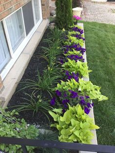 Front Yard Garden Design 15 Beautiful Flower Beds In Front Of House Ideas Front Garden Landscape, House Landscape, Lawn And Garden, Landscape Design, Garden Design, Sun Garden, Flower Landscape, Landscape Plans, Garden Table