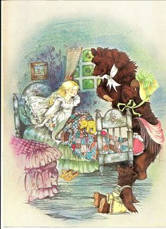 A lesson on Entitlement our society seems to have forgotten. Beverlie Manson illustration - Goldilocks and the Three Bears