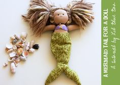 Mermaid tail for a Waldorf-style doll