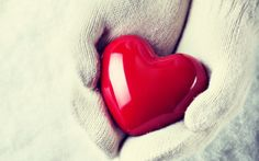 Śnieg, Serce, Rękawiczki