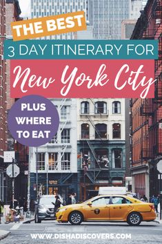 New York City is a gorgeous city with a lot to offer. It's impossible to explore it all in just a few days. Here's a three-day itinerary for New York City. Visit New York City, New York City Travel, New York Travel Guide, Travel Usa, Travel Tips, Travel Guides, Travel Destinations, Canada Travel, Travel Articles