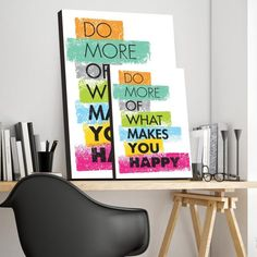Placa Decorativa Do More Are You Happy, Magazine Rack, Storage, How To Make, Furniture, Home Decor, Stickers, Frames, Colors
